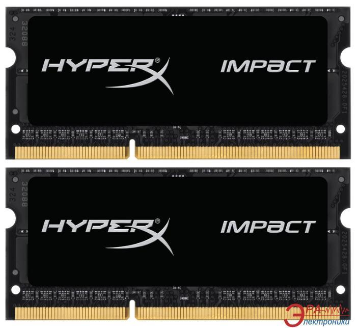 Оперативная память SO-DIMM DDR3 2*4 Gb 1600 МГц Kingston (HX316LS9IBK2/8)