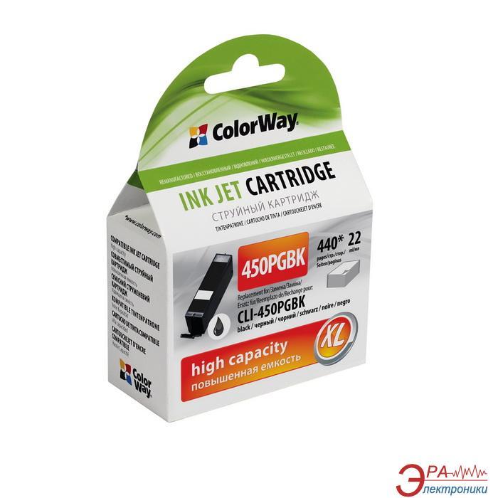 Совместимый картридж ColorWay PGI-450 (CW-CLI-450BK) (CANON Pixma iP7240/ MG5240/ MG5540/ MG6340/ MG6440/ MG7140/ MX924) Black