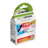 Совместимый картридж ColorWay CW-CLI-451M (Pixma iP7240/ MG5240/ MG5540/ MG6340/ MG6440/ MG7140/ MX924) Magenta