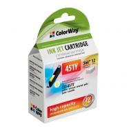 Совместимый картридж ColorWay CW-CLI-451Y (Pixma iP7240/ MG5240/ MG5540/ MG6340/ MG6440/ MG7140/ MX924) Yellow