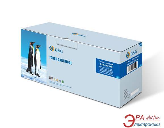 Совместимый картридж G&G (G&G-CE251A) (HP LaserJet CP3525n/ CP3520/ CM3530fs/ Canon LBP7780Cx 732) Cyan