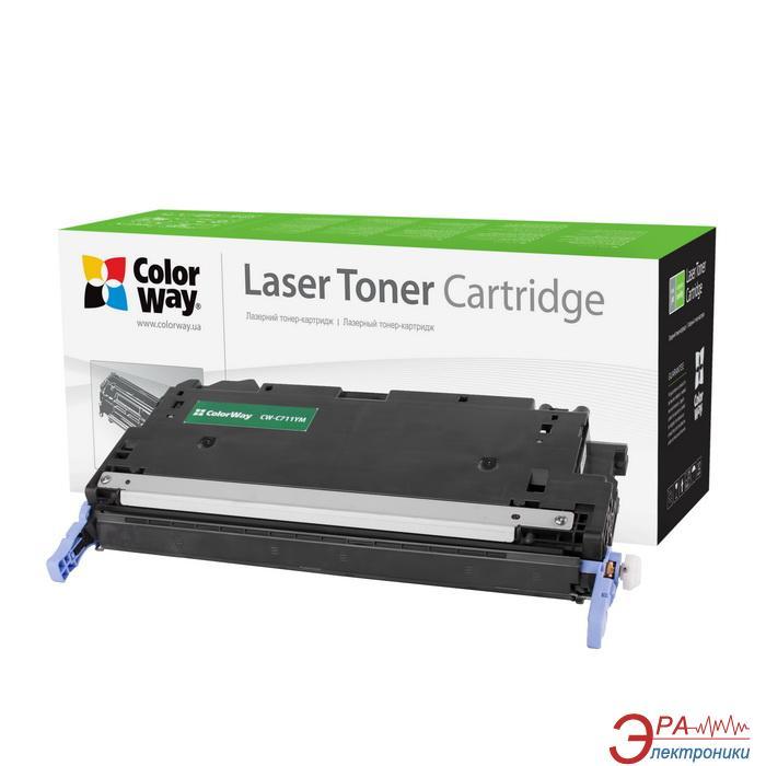Совместимый картридж ColorWay (CW-C711YM) (Canon LBP 5300/ 5360/ HP CLJ 3600/ 3800/ CP3505  Q6472A/ Canon 711) Yellow