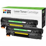 Совместимый картридж ColorWay CW-H285XFM (HP CE285X/ Canon 725H Universal) Dual Pack Black