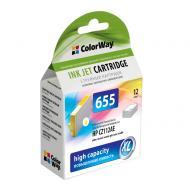 Совместимый картридж ColorWay CW-H655Y (HP DJ 4615/ 4625/ 3525/ 5525/ 6525 (CZ112AE) Yellow
