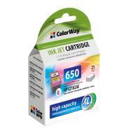 Совместимый картридж ColorWay CW-H650XLC-I (HP DJ 2515/ 3515 (CZ102AE) (C, M, Y)