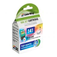 Совместимый картридж ColorWay CW-H141XL-I (HP C4283/ 4483/ 4583/ 5283/ 5363/ J5783/ 6413/ DJ D4363 (CB338HE) (C, M, Y)