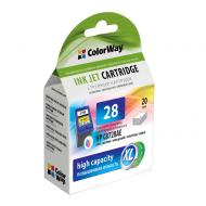 Картридж ColorWay CW-H28XL-I (HP DJ 332x/342x (C8728AE) (C, M, Y)