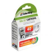 Совместимый картридж ColorWay CW-CPG40-I (Canon Pixma iP-1600/ 2200/ MP-150/ 170/ 450 (PG-40) Black