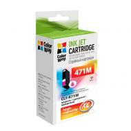 Картридж ColorWay CW-CLI-471M (Canon Pixma MG5740/ MG6840 (0348C001) Magenta