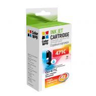 Совместимый картридж ColorWay CW-CLI-471C (Canon Pixma MG5740/ MG6840 (0347C001) Cyan