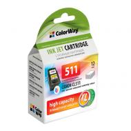 Совместимый картридж ColorWay CW-CCL511-I (Canon Pixma MP240/ 280/ 490/ 495/ MX320/ 330 (CL-511) (C, M, Y)