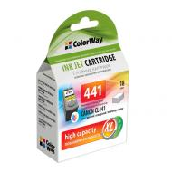 Совместимый картридж ColorWay CW-CCL441-I (Canon Pixma MG2140/ MG3140 (CL-441) (C, M, Y)