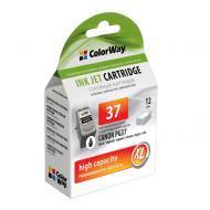 Совместимый картридж ColorWay CW-CPG37 (Canon Pixma iP-1800/2500 (PG-37) Black