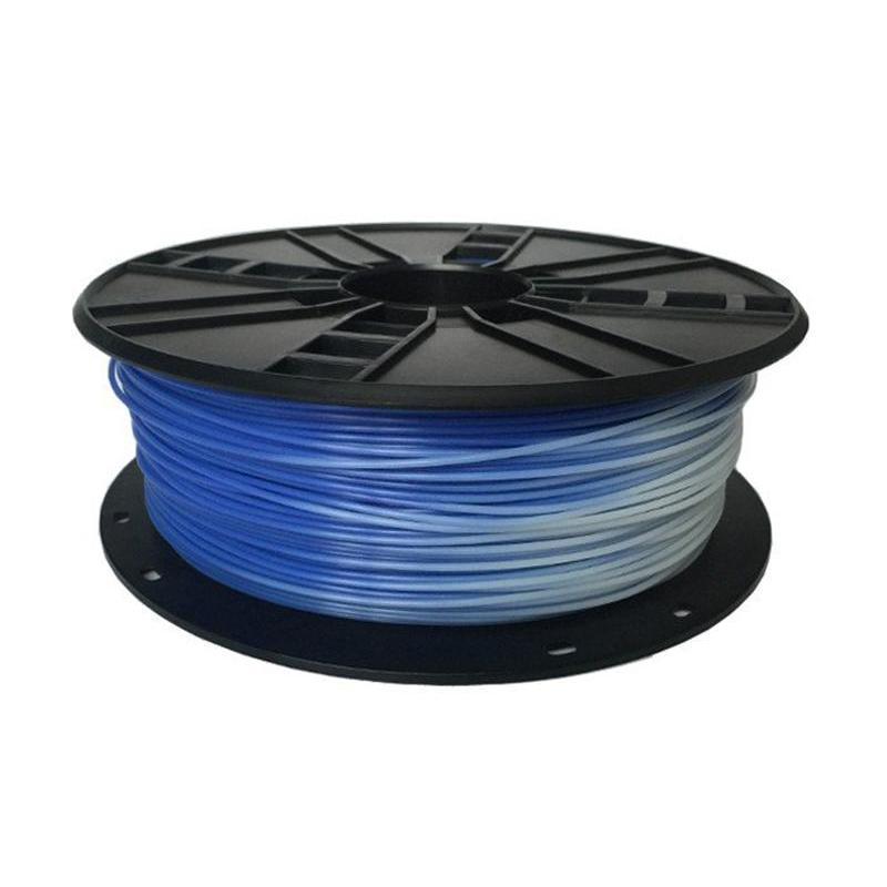 PLA-пластик Gembird 1.75mm, Blue in White, 1kg (3DP-PLA1.75-01-BW)