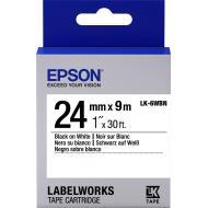 Лента клеящаяся Epson LC6WBN9 Black/White 24mm 9m (C53S656006)