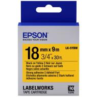 Лента клеящаяся Epson LK5YBW Strong Black/Yellow 18mm 9m (C53S655010)