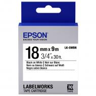 Лента клеящаяся Epson LK5WBN Std Black/White 18mm 9m (C53S655006)