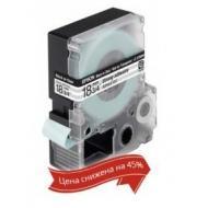 Лента клеящаяся Epson LK5TBW Black/Clear 18mm 9m (C53S655011)