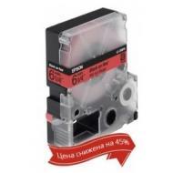 Лента клеящаяся Epson LK2RBP Black Red 6mm 9m (C53S652001)