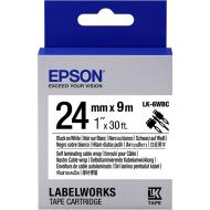 Лента клеящаяся Epson LK6WBC Black/White 24mm 9m (C53S656901)