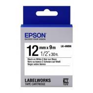 Лента клеящаяся Epson LK4WBN Black/White 12mm/9m (C53S654021)