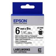 Лента клеящаяся Epson LK2TBN Clear Black/Clear 6mm/9m (C53S652004)