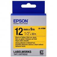 Лента клеящаяся Epson LK4YBW9 Black/Yellow 12mm/9m (C53S654014)