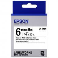 Лента клеящаяся Epson LK2WBN Black/White 6mm/9m (C53S652003)