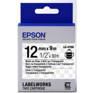 Лента клеящаяся Epson LK4TBN Clear Black/Clear 12mm/9m (C53S654012)