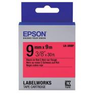 Лента клеящаяся Epson LK3RBP Pastel Black/Red 9mm/9m (C53S653001)