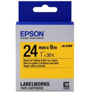 Лента клеящаяся Epson LK6YBP Pastel Black/Yellow 24mm/9m (C53S656005)
