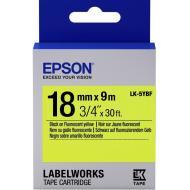 Лента клеящаяся Epson LK5YBF Black/Yellow 18mm/9m (C53S655004)