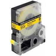 Лента клеящаяся Epson LK3YBW Black/Yellow 9mm/9m (C53S653005)