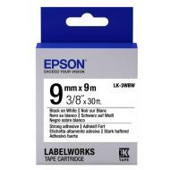 Лента клеящаяся Epson LK3WBW Black/White 9mm/9m (C53S653007)
