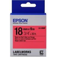 Лента клеящаяся Epson LK5RBP Black/Red 18mm/9m (C53S655002)