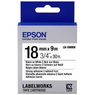 Лента клеящаяся Epson LK5WBW Black/White 18mm/9m (C53S655012)