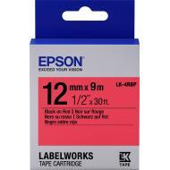 Лента клеящаяся Epson LK4RBP Black/Red 12mm/9m (C53S654007)