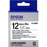 Лента клеящаяся Epson LK4WBW Black/White 12mm/9m (C53S654016)