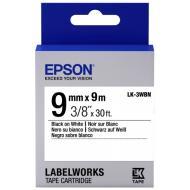 Лента клеящаяся Epson LK3WBN Black/White 9mm/9m (C53S653003)