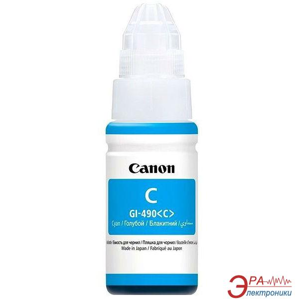 Чернила Canon GI-490 PIXMA G1400/G2400/G3400 Cyan (0664C001) 70 мл (г)