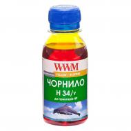 Чернила WWM HP № 22/134/136 Yellow (H34/Y-2) 100 мл (г)