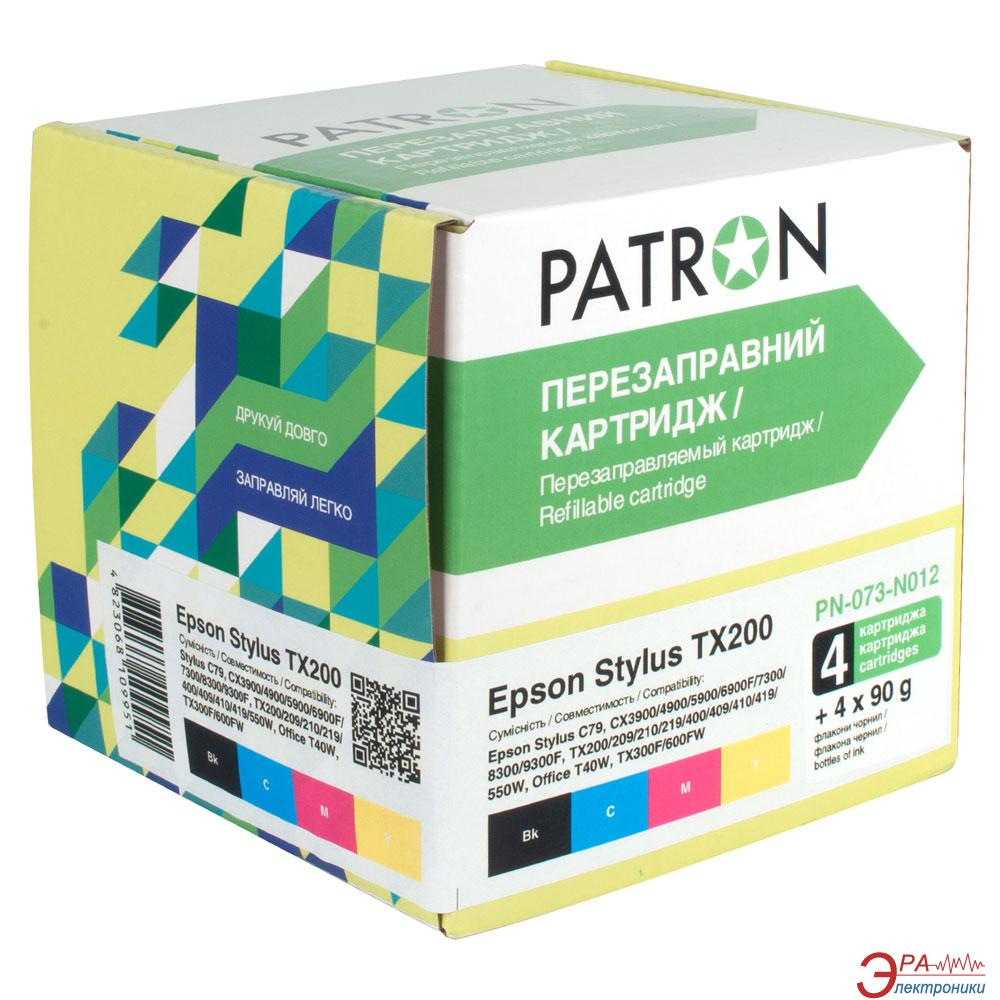 Комплект перезаправляемых картриджей Patron (CIR-PN-ET073-012) Epson (C79/ TX200/ TX209/ TX400/ TX409)
