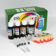 Комплект перезаправляемых картриджей ColorWay (IP7250RC-5.1P) Canon (IP7250/ MG5450)