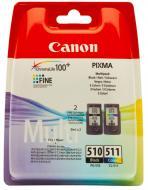 Картридж Canon PG-510Bk/CL-511 Multi Pack (2970B010) (MP240/ 250/ 260/ 270/ 480/ 490, MX320/ 330) Bundle (C, M, Y, Bk)
