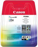 �������� Canon PG-40Bk/CL-41 (0615B043) (iP1200, iP1600, iP2200, JX200, JX500, MP150, MP170, MP450, iP1300, iP1700, MP160, MP180, MP460, MP470, MP220, MP210, iP2500, iP1800, iP2600, iP1900, MX310, MX300, JX210P, JX510P) Bundle (C, M, Y, Bk)