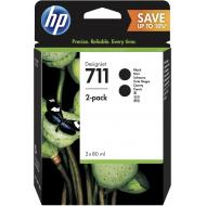 Картридж HP No.711 2x80ml (P2V31A) (DesignJet 120/520) Black