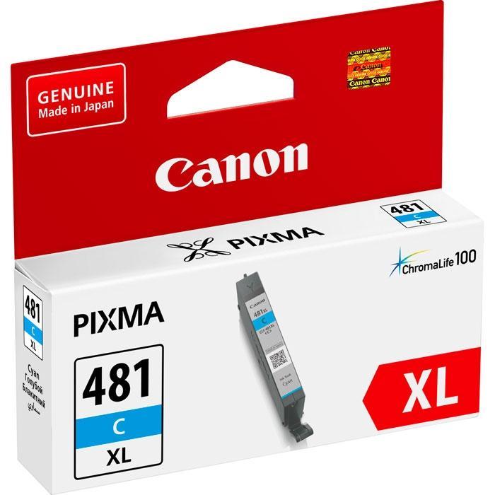 Картридж Canon CLI-481C XL (2047C001) (PIXMA TS6140, TS8140, TS9140, TR7540, TR8540) Cyan