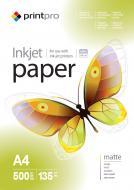 Бумага для фотопринтера PrintPro A4 135g/m2 500л (PME135500A4)