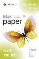 Бумага для фотопринтера PrintPro 10x15 190g/m2 100л (PME1901004R)