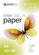 Бумага для фотопринтера PrintPro A4 190g/m2 100л (PME190100A4)
